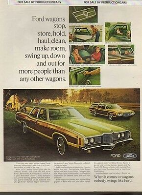 1972 Ford LTD Country Squire Wagon  Classic 10x13 Vintage Advertisement Ad LG12