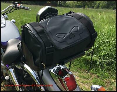Sac sissi bar Cuir souple pour moto custom patch Aigle / live to ride - NEUF