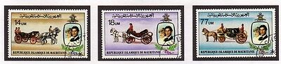Mauritania 1981 Royal Wedding Charles & Diana SG 701/703 FU Complete Set