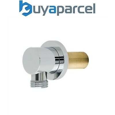 Chrome Round Shower Valve Hose Connector Wall Outlet Elbow Concealed Shower