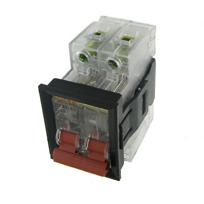 AC 400V 20A 2P Transparent Miniature Circuit Breaker with Mounting Bracket