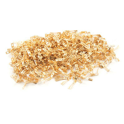 500 Pcs F130-0.1 Gold Tone Carbon Brush Holder for F130 Motor Mieeg