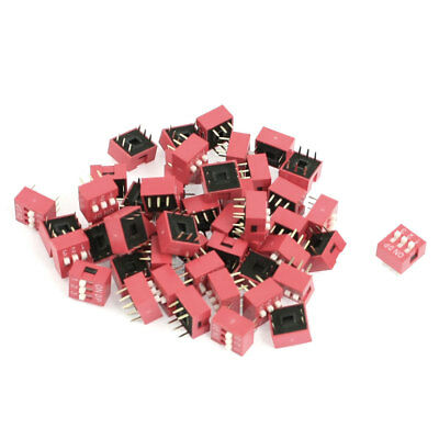 50 Pcs 2 Row 6 Pins 2.54mm Pitch 3 Positions Slide Style DIP Switch
