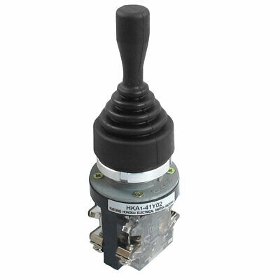 AC 380V 5A 2NO Latching 30mm Fixing Hole Double-way Joystick Switch