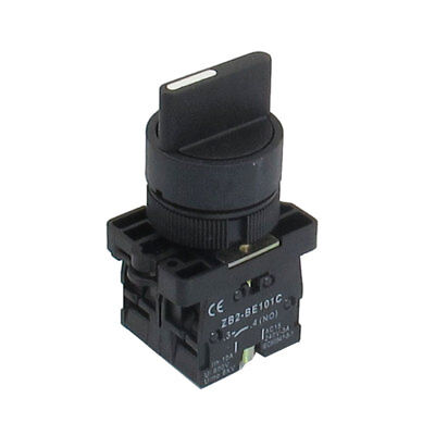 22mm Locking 2 NO Three 3-Position Rotary Selector Select Switch ZB2-ED33