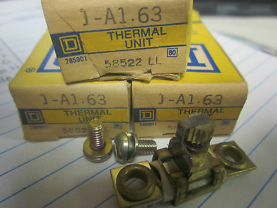 New Lot Of 3 Square D Overload Relay Thermal Units  A1.63........xt-16K