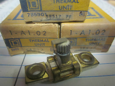 New Lot Of 3 Square D Overload Relay Thermal Units  A1.02.......xt-16T