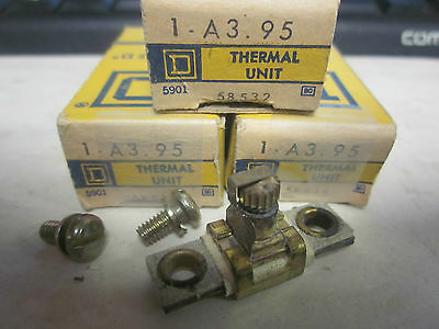 New Lot Of 3 Square D Overload Relay Thermal Units  A3.95.......xt-18C