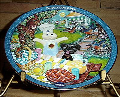 Pillsbury Doughboy Baking Buddies Bill Bell Picnic Pick-me-up Danbury Mint Plate