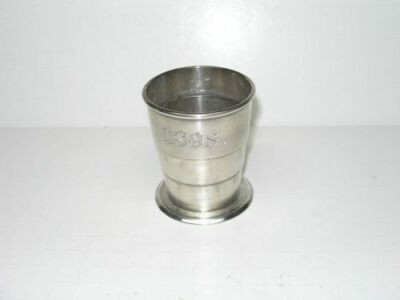 Antique 1898 Wilcox Silver Plate N.a.m. Monogrammed Collapsing Collapsible Cup