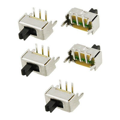 5x 3mm High Knob 3 Pin 2 Position 1P2T SPDT Right Angle Slide Switch 0.3A 50V DC