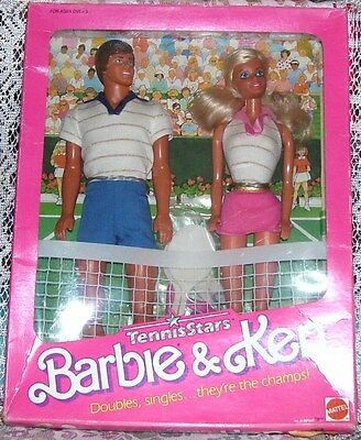 1988 Vintage Toys R Us Exclusive Tennis Stars Barbie & Ken Giftset Nib #7801