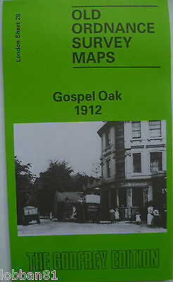 OLD Ordnance Survey  Map Gospel Oak near Highgate London 1912 S28 Brand New