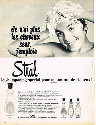 PUBLICITE ADVERTISING   1966    STRAL  shampoing spécial