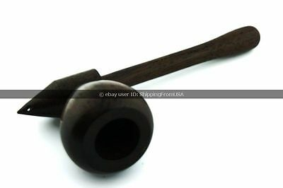 """Wood Smoking Pipe - 4"""" Collectible Wooden Handmade Tobacco Hidden Pipe - NEW"""