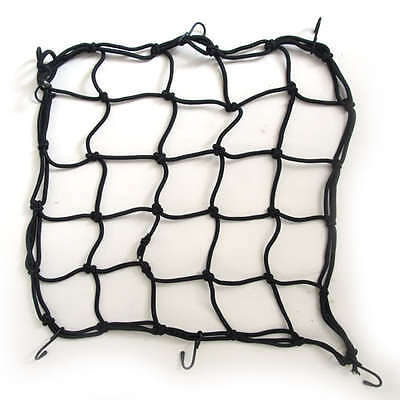 Motorcycle Motorbike Strong Elasticated Cargo Luggage Net Carrier - Black