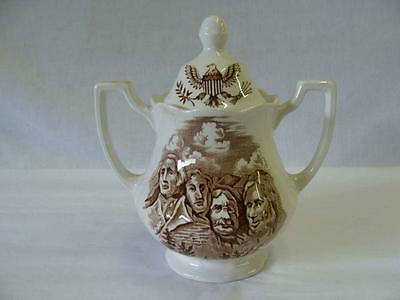 ROYAL STAFFORDSHIRE J & G MEAKIN AMERICAN LEGEND COVERED SUGAR BOWL