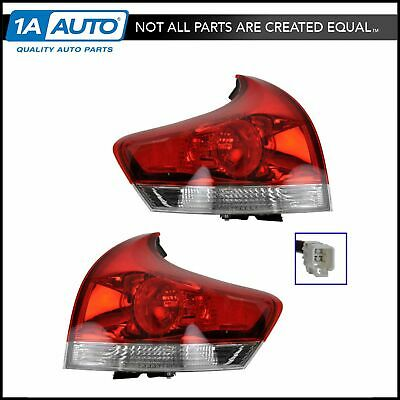Taillights Lamps Brake Lights Outer LH & RH Pair Set of 2 for 09-12 Toyota Venza