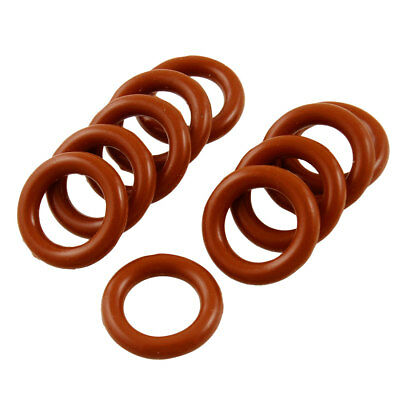 10 Pcs Brick Red Silicone O Ring Seal Sealing Washer 10mm x 16mm x 3mm