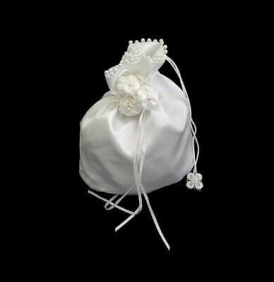 Bridal Purse White or Ivory Satin Wedding Bag Bride Accessories