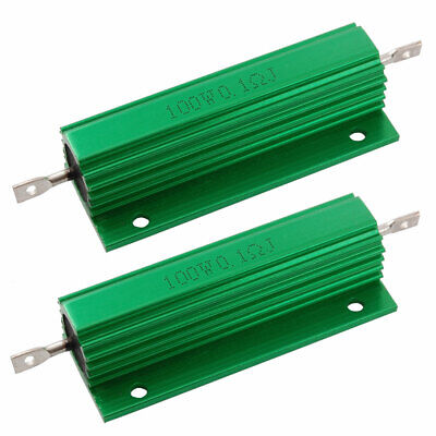 2 x Chassis Mounted 100W 0.1 Ohm 5% Aluminum Case Wirewound Resistors