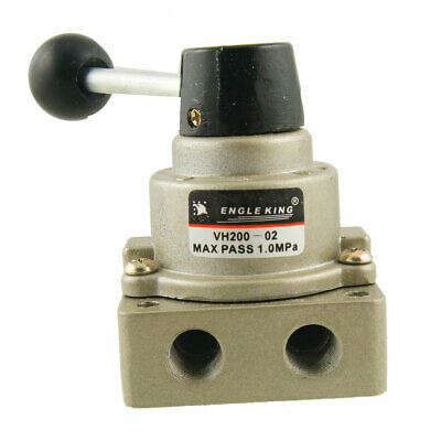 """Pneumatic 3 Positions 4 Ports Air Hand Switching Valve PT 1/4"""""""