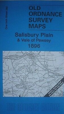 Old Ordance Survey Maps Salisbury Plain Vale  Pewsey Devizes Imber 1899 S282 New