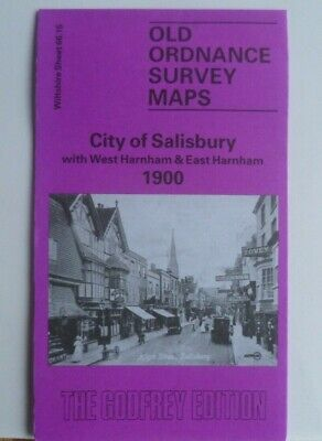 Old Ordnance Survey Maps City Salisbury  W Harnham & E Harnham 1900 Sheet 66.15