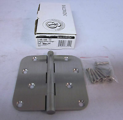 "Baldwin 1140.150 Radius Corner Hinge 4""x 4"" (1) SATIN CHROME BRAND NEW in box!!"