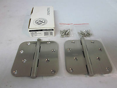 "Baldwin 1140.150 Radius Corner Hinge 4""x 4"" Pair SATIN CHROME BRAND NEW in box!!"