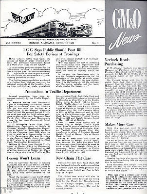 G M & O News Vol. XXXXI No.1 April 10, 1964  Early Minutes of Railroad Revealed