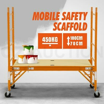 450KG(1000lbs) Mobile Safety High Scaffold Work Platform Ladder Tool