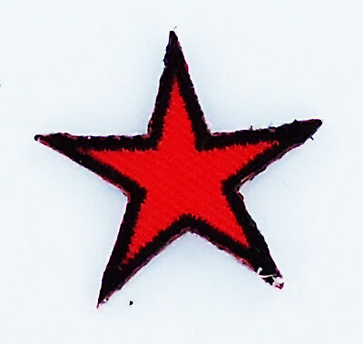 che guevara star 2.5cm for HAT red star iron on glue patch patches NEW