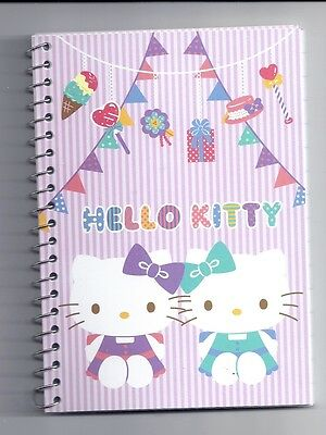 Sanrio Hello Kitty Spiral Notebook Purple Party With Stickers