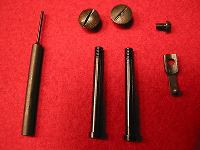 Luger, Stock iron screw & spring set with Luger punch & grip screws