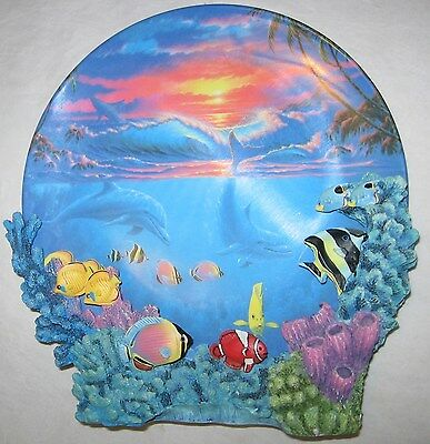 The Hamilton Collection Sealife At Sunset Plate Anthony Jones Colors Of The Sea