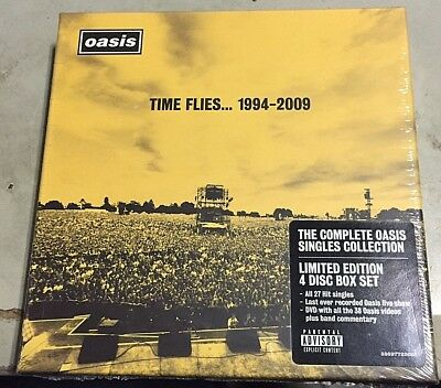 OASIS - TIME FLIES.1994-2009 - 3CD+DVD ALL BoxSet SEALED  MINT !!!! nuovo
