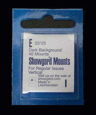 Showgard Black Stamp Mount E 22/25 (40 count)