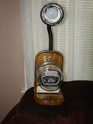 Rare / Vintage / Antique Westinghouse  Electric Meter Table Lamp / Steam Punk :