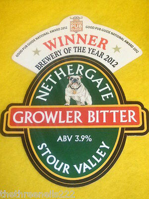 Beer Pump Clip - Nethergate Growler Bitter