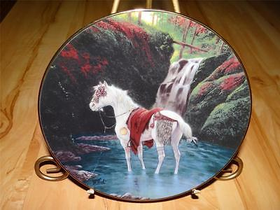 """Blackfoot War Pony"" THE WARRIOR'S PRIDE by Chuck DeHaan Hamilton HORSE Plate"