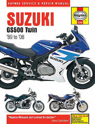 Haynes 3238 Motorcycle Service Repair Owner Manual Suzuki Gs500 Twin 1989 - 2008
