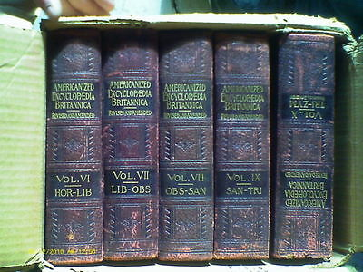 Americanized Encyclopedia Britannica 1890 10 Volume Set