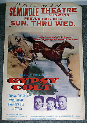 GYPSY COLT original 1954 movie poster DONNA CORCORAN/HORSES/FRANCES DEE