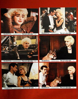 MADONNA WHO'S THAT GIRL? 1987's 5x RARE EXYU LOBBY CARDS