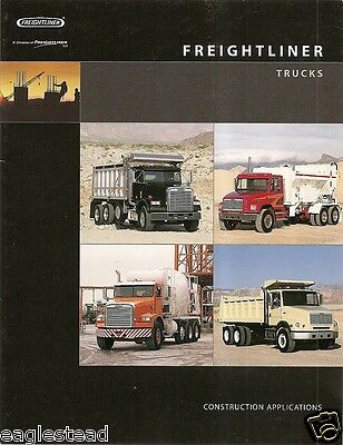 Truck Brochure - Freightliner - Construction Product Lines Models - 2001 (TB178)