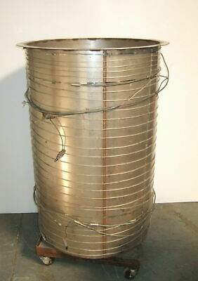 "500 Liter Mobil Stainless Steel Tank on Wheels 30"" x 48"""