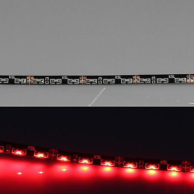 """Red 24"""" 60cm 60SMD Thin Side Glow LED Car Decoration Neon Strip Flexible Light"""