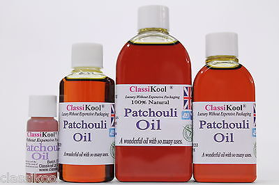 Classikool Patchouli Oil 100% Pure Essential Aromatherapy Massage and Carrier