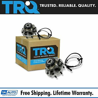 TRQ Front Wheel Hub & Bearing Assembly Pair Set for Super Duty Truck 4WD 4x4 ABS